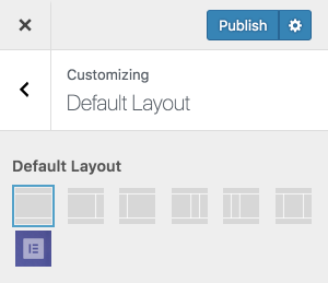 Default Layout option in the WordPress Customizer